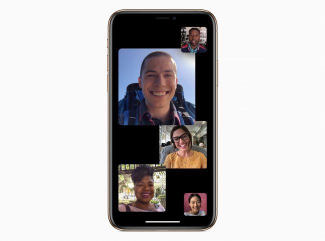 iOS 12.1 FaceTime groupe