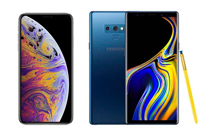 Samsung Galaxy Note 9 vs iPhone Xs Max