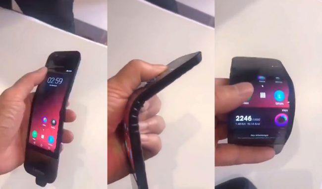 Lenovo smartphone pliable