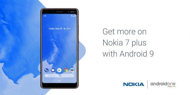 Android 9.0 Pie pour Nokia 7 Plus