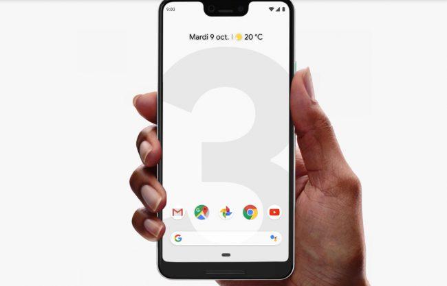 Les applications Google sur le Pixel 3 © Google