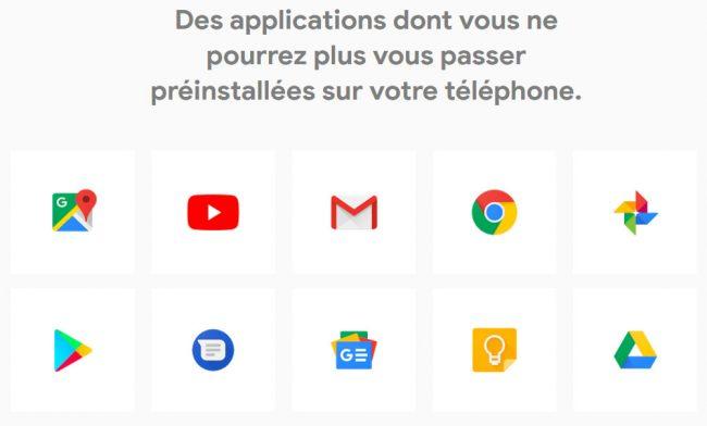La suite Google est notamment proposée sur les Pixel © Google
