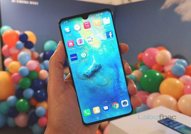 Le Huawei Mate 20, l'un des plus récents smartphones sous Android / © LaboFnac