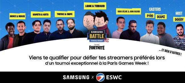Samsung Battle Ft. Fortnite, édition PGW 2018