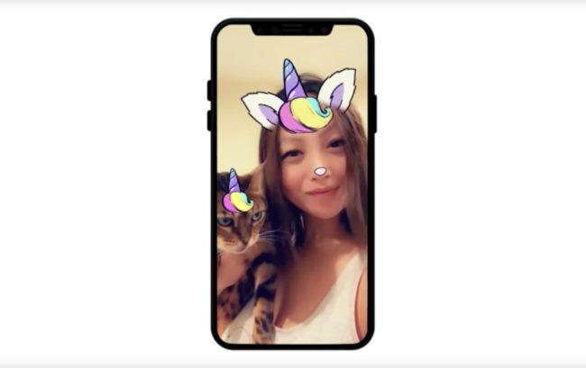 Cat Lenses dans Snapchat