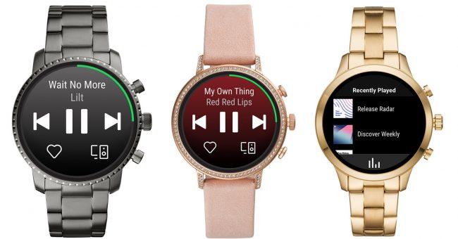 Spotify pour Wear OS sur les montres Fossil et Michael Kors