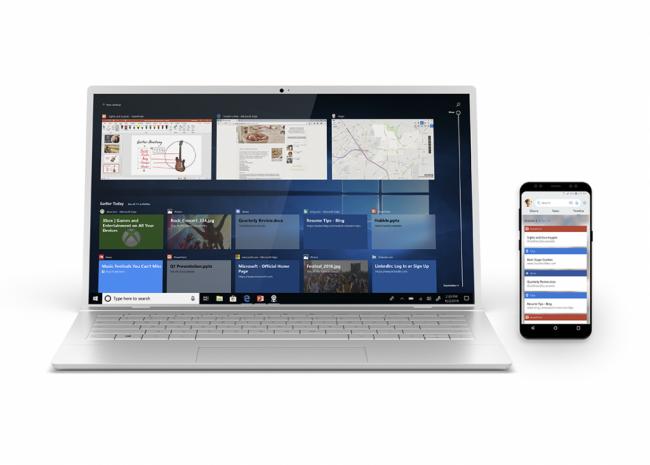 Timeline synchronisée entre Windows 10 et Android