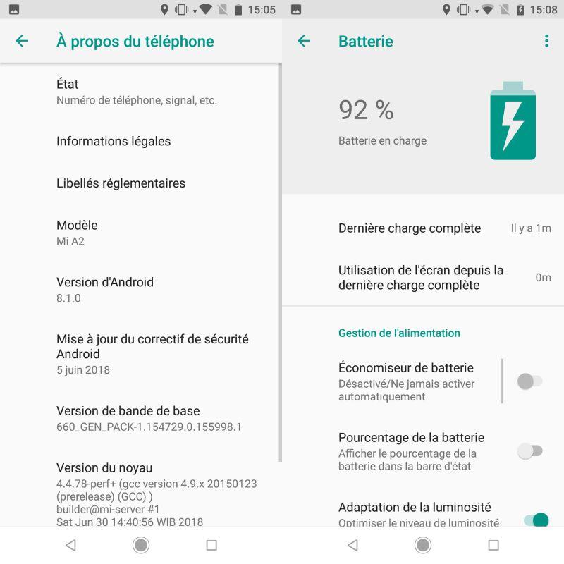 Xiaomi Mi A2 : Android 8.1 Oreo