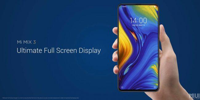 Xiaomi Mi Mix 3 : un écran géant coulissant