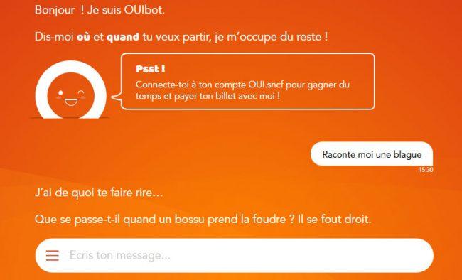 SNCF chatbot