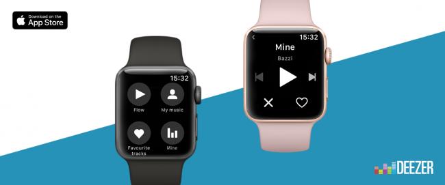 Nouvelle application Deezer pour Apple Watch