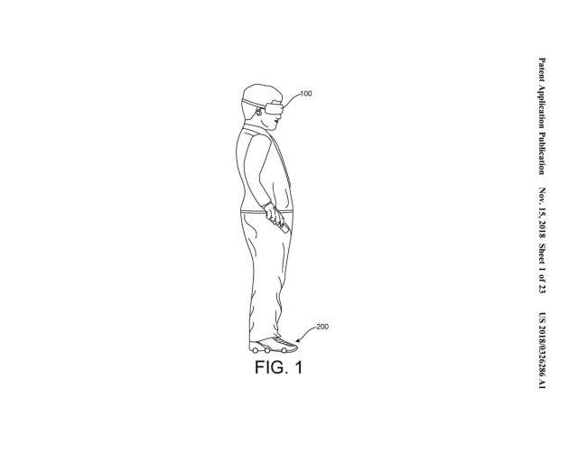 Google brevet chaussures VR