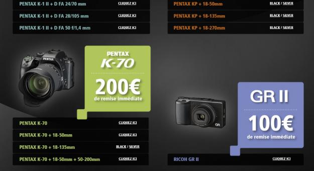 Pentax lance ses ODR d'hiver : 200 € remboursés sur un K-1 Mark II