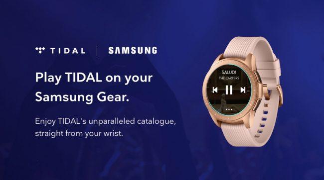 Tidal pour montres Samsung