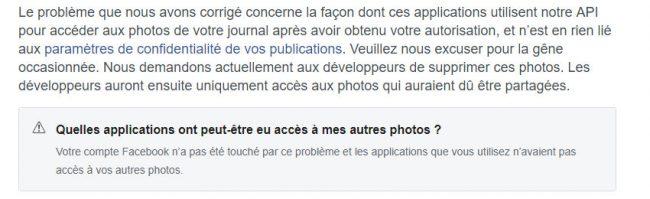 Facebook faille photos