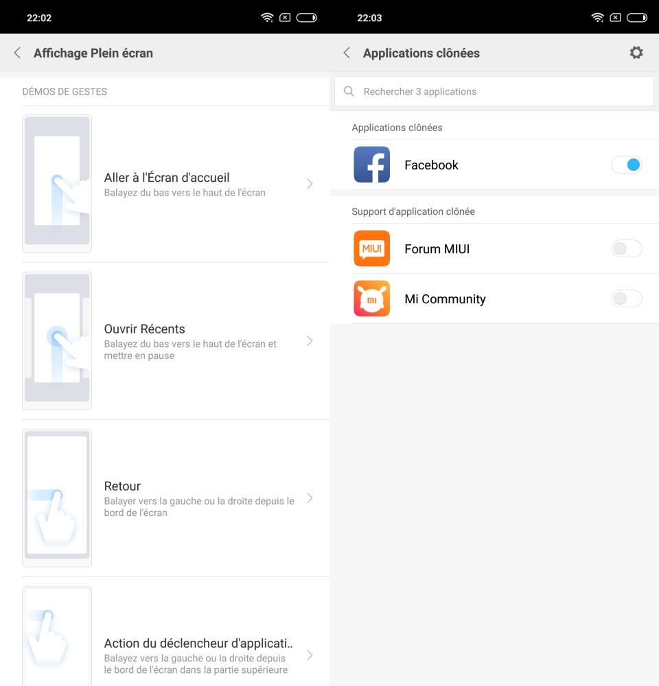 MIUI 9.6 sur Xiaomi Mi 8