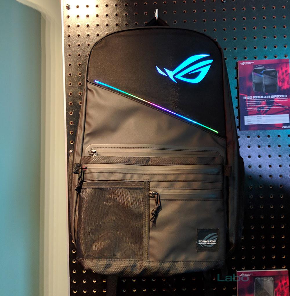 ROG dos pour Ranger LED gamers avec sac Asus des à CES 2019 un les qfwB0qa4