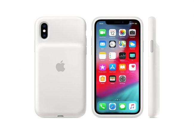 La Smart Battery Case pour iPhone XS (Blanc) @ Apple