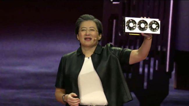 Lisa Su, PDG d'AMD, dévoile la Radeon VII © AMD / Capture d'écran LaboFnac