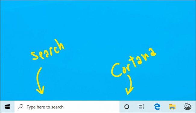Windows 10 va bientôt séparer la recherche de Cortana © Microsoft