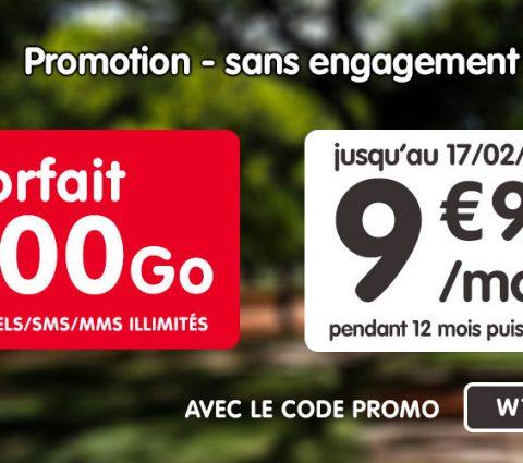 NRJ Mobile relance son forfait Woot 100 Go à 10 euros par mois