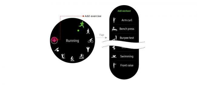 Nouvelles activités supportées sur les Samsung Gear S3 et Gear Sport