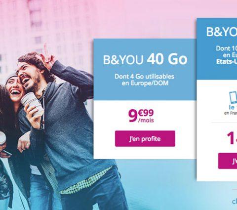 Bon Plan – B&You : une série limitée à 14,99 euros avec 50 Go de data, dont 10 utilisables eu Europe et aux USA