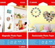 Canon MG-101, RP-101, PP-201, NL-101 : aimantés ou autocollants, de nouveaux papiers créatifs