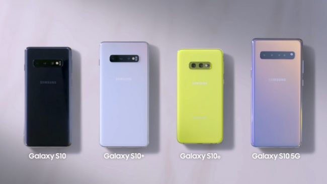 Samsung Galaxy S10, S10+, S10e et S10 5G