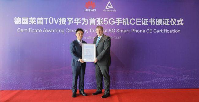 Huawei certificat CE 5G