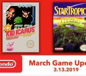 Nintendo Switch Online : les jeux du mois de mars dévoilés
