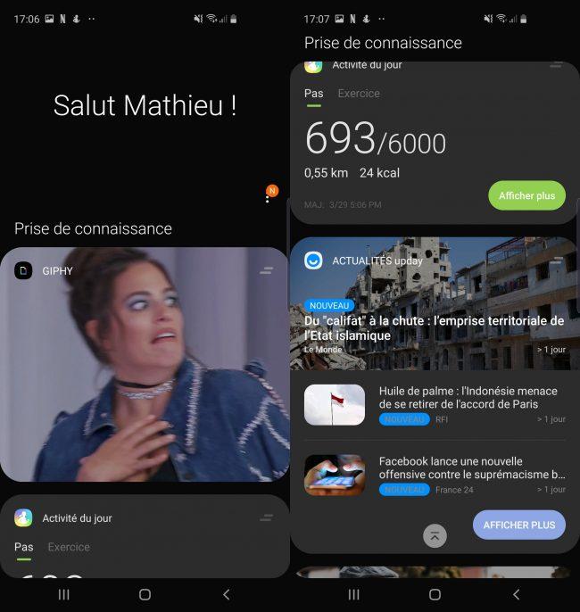 OneUI sur le Samsung Galaxy S10e