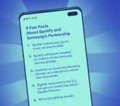 Spotify étend son partenariat avec Samsung pour conserver sa couronne