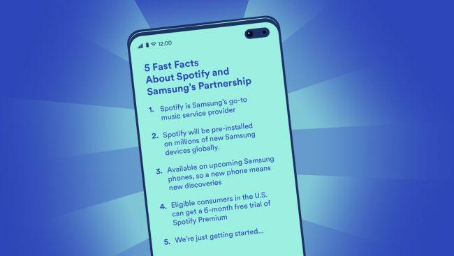La relation entre le service suédois et Samsung prend une nouvelle tournure © Spotify
