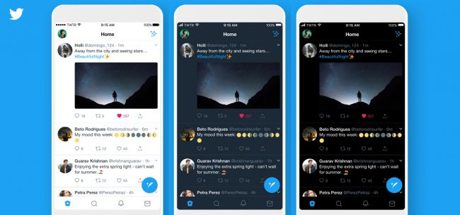 Twitter mode sombre iOS