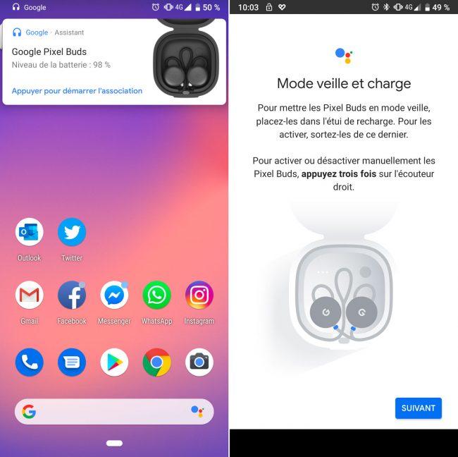 Google Pixel Buds appairage