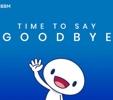 C'est fini, BlackBerry Messenger (BBM) ferme ses portes