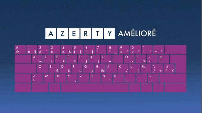 clavier azerty amélioré