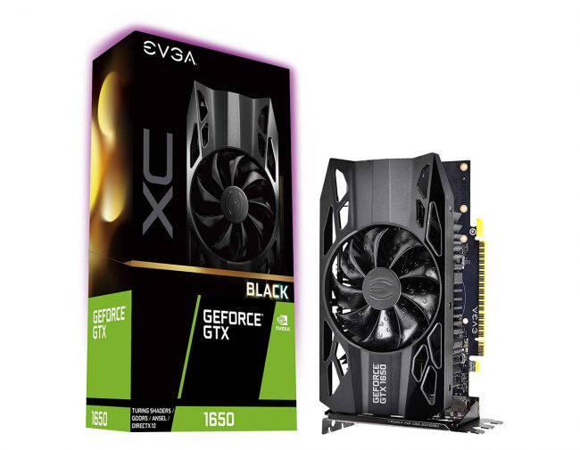 La GeForce GTX 1650 XC Black d'EVGA © EVGA