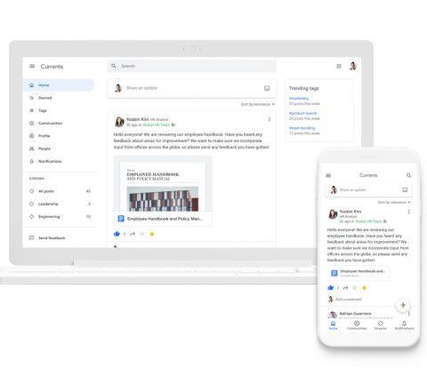 Google+ devient Currents : un nouveau nom pour une nouvelle vie