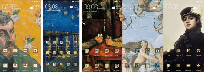 Huawei P30 thèmes
