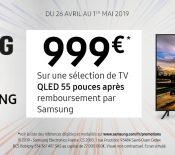 French Days –Samsung propose une ODR flash sur une sélection de TV QLED 55 pouces