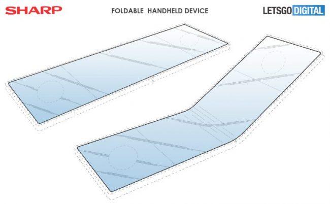 Sharp smartphone pliable