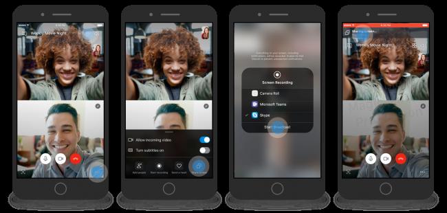 Partage d'écran en direct avec Skype pour Android et iOS