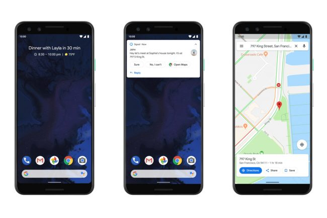 Android Q Smart Reply Notifications