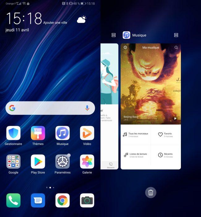 Interface Huawei P30