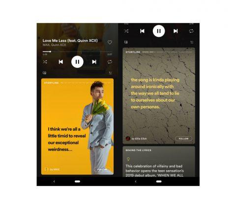 Avec Storyline, Spotify s'essaye aux «Stories» pour les artistes
