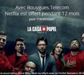 Bon plan – Bouygues Telecom propose une offre avec Netflix inclus pendant 12 mois