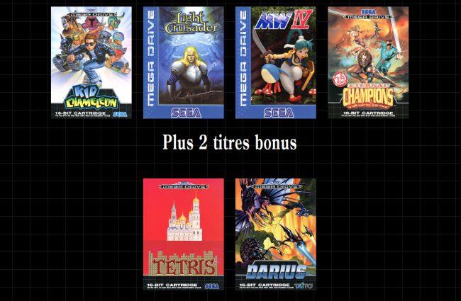 jeux Sega Mega Drive Mini
