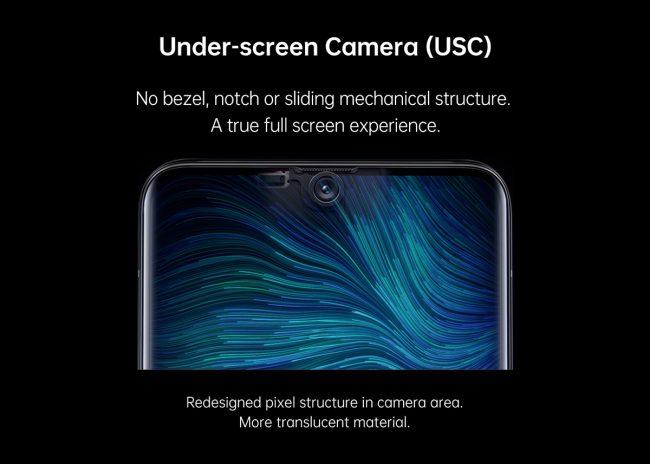 Oppo caméra sous-écran